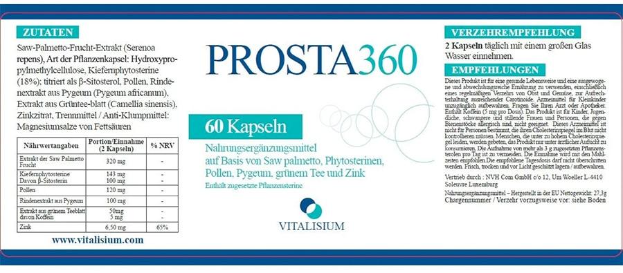 Prosta 360 Inhaltsstoffe